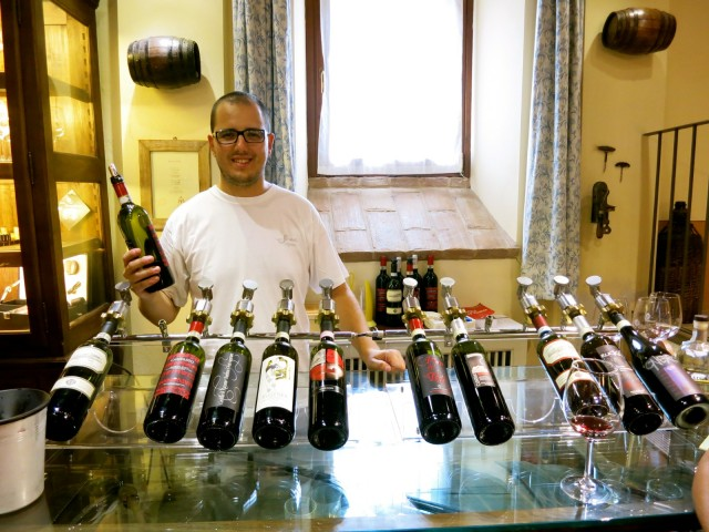 Tasting Room at Castello Di Razzano Near Asti in Piedmont Italy