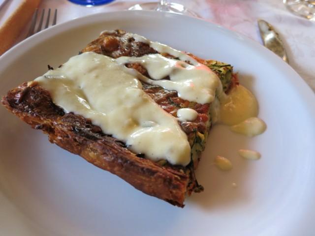 Veggie Tart Part of Five Hour Wine Tasting Evening, Piedmont Italy