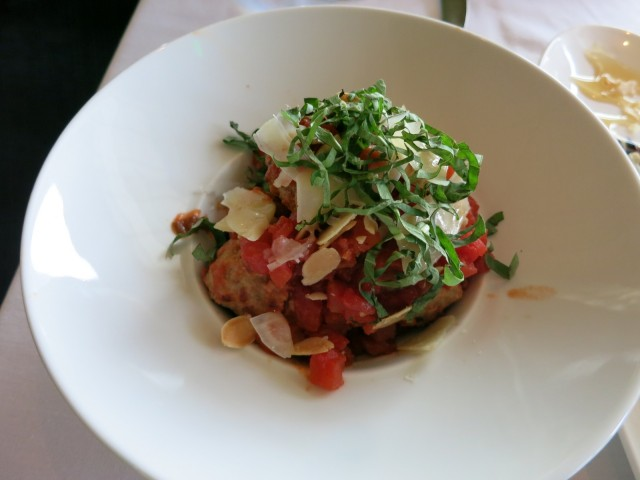 Wood Fired Meatballs at Salt Kitchen and Bar, Wentworth By the Sea, New Castle NH