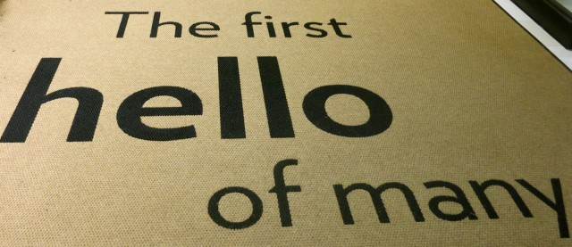 Welcome mat at Even Hotel, Norwalk CT