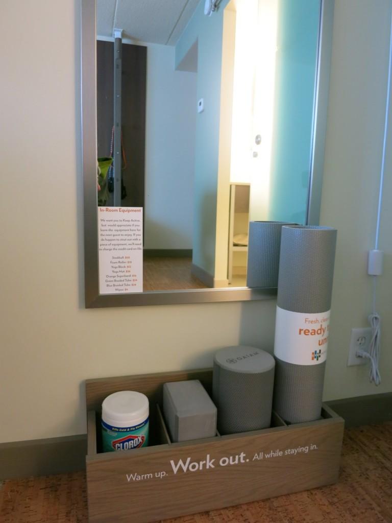In Room Yoga accessories, Even Hotel Norwalk CT