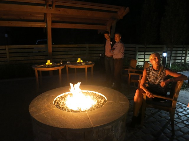 Outdoor garden fire pit - Even Hotel Norwalk CT