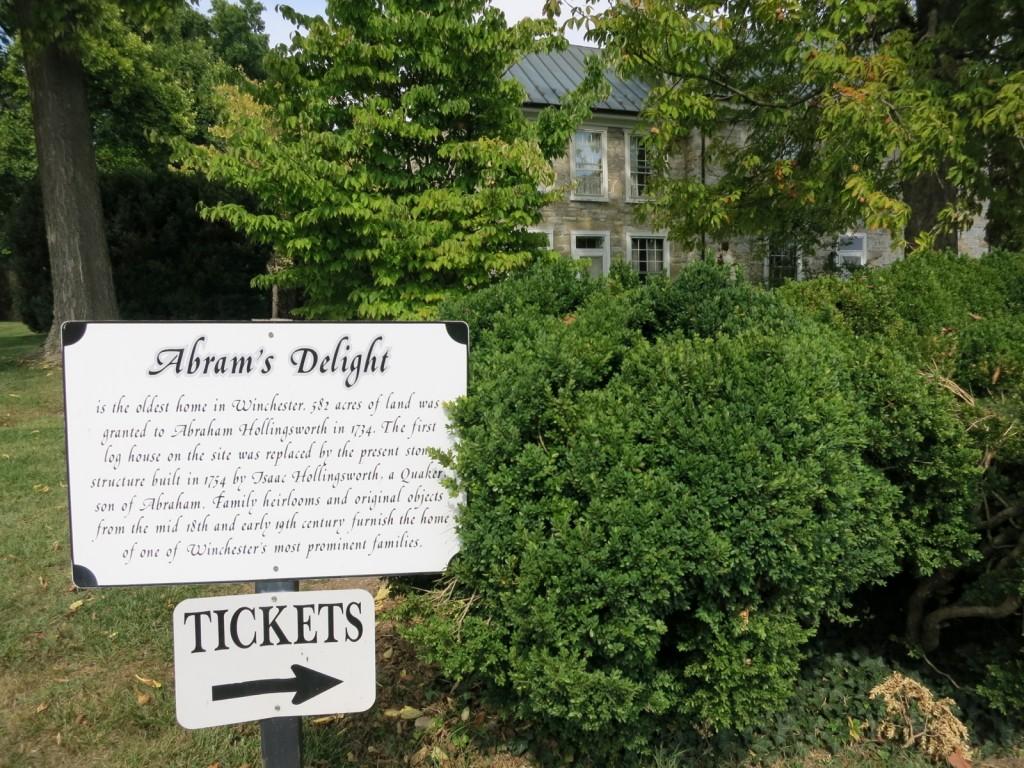 Abram's Delight, Winchester VA