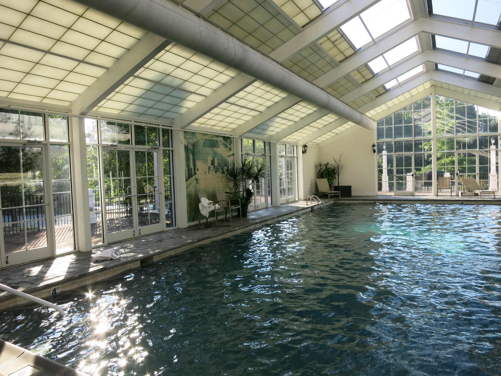 Gentil Saltwater Indoor Pool With Retractable Roof; The Martha Hotel