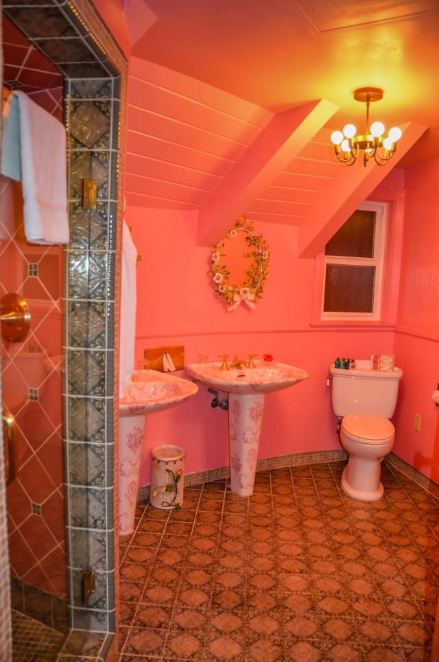 Madonna Inn Room 218 bathroom