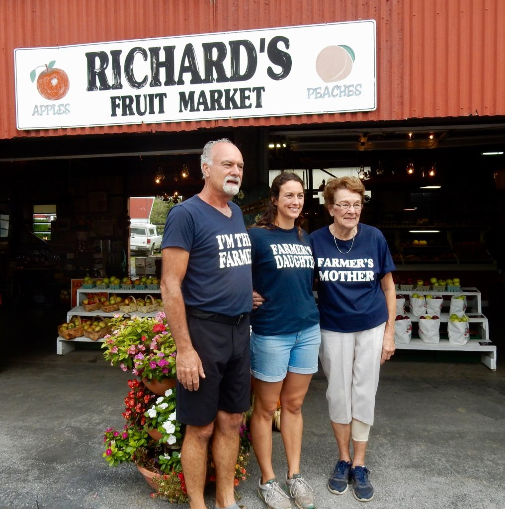 Three Generations of owners at Richards Fruit Market, Middletown VA