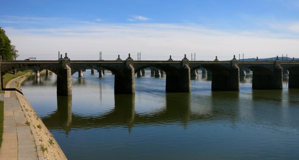 Series of stone bridges seen on a weekend getaway in Harrisburg PA.