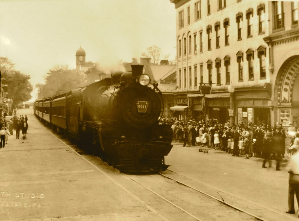 Train ran through center of Carlisle PA on High Street for 99 years
