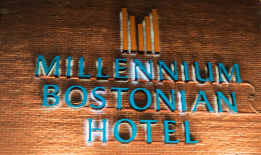 Millenium Bostonian Hotel sign