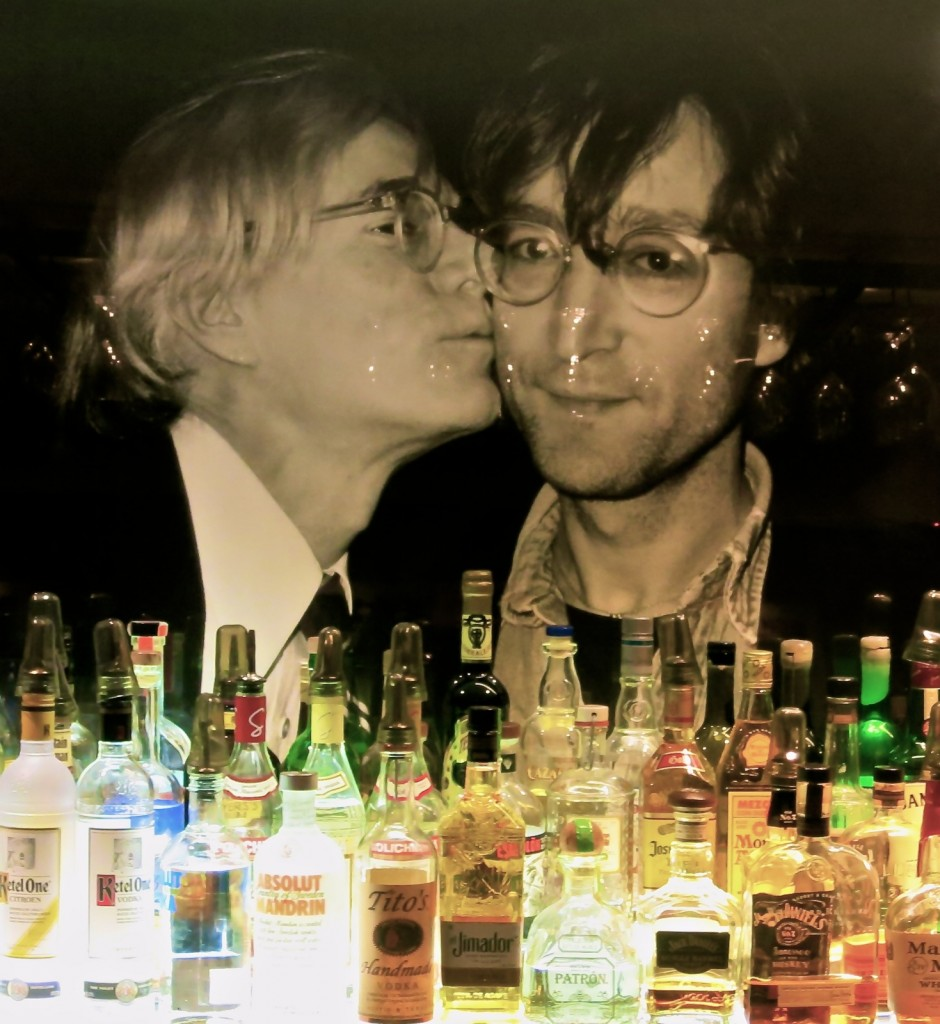 Warhol kissing John Lennon photo Hotel Faucher Milford PA