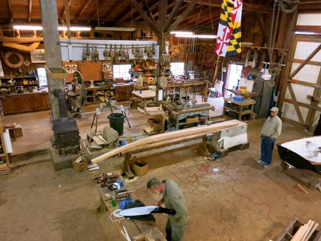 Boat Building Shop at Maritime Museum
