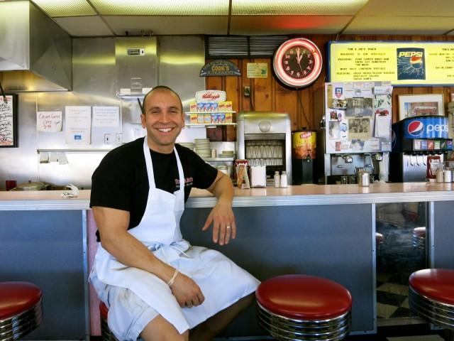 George Batius, owner Tom and Joes Diner