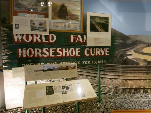 Horseshoe Curve Sign at Visitors Center