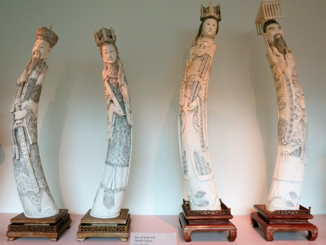 Ivory Carvings, Maridon Museum, Butler PA