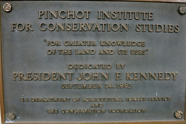 JFK Dedication, Grey Towers plaque