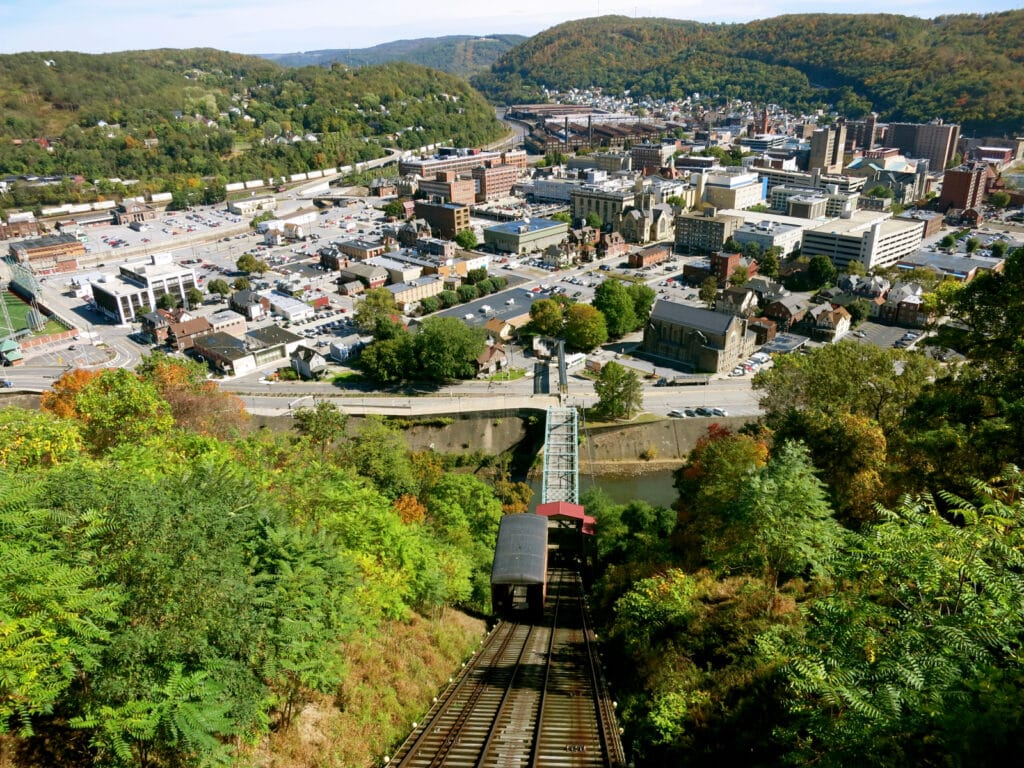 Johnstown PA from mountain top