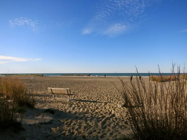 Lake Erie beach at Presque Isle SP