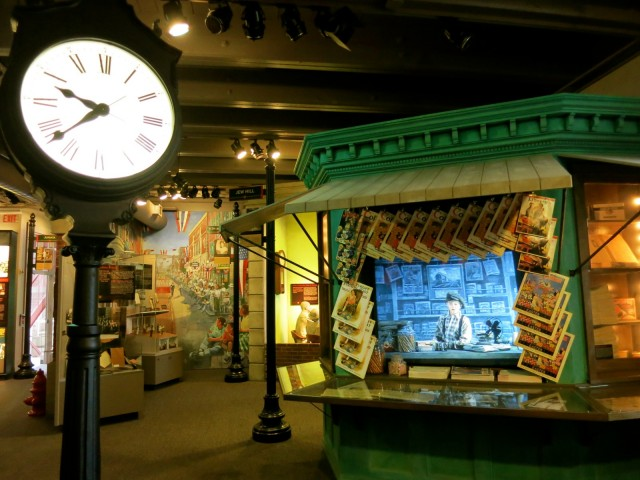 Railroader Memorial Museum Kid at Newstand