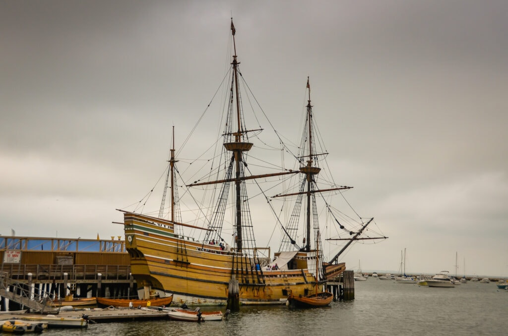 Mayflower II docked in Plymouth MA