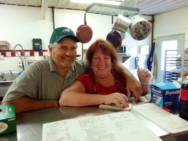 Rob and Cindy, owners, Brick House Cafe
