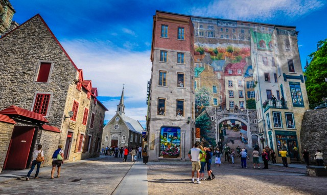 Quebec City Mural - Place Royale - Quebec