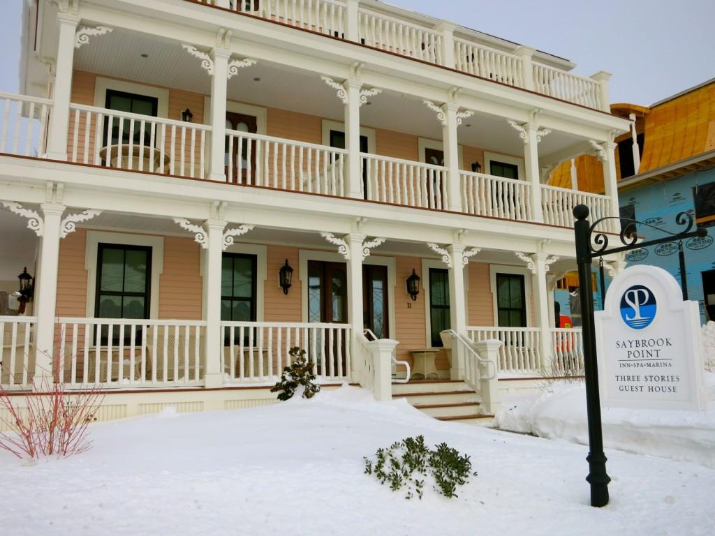 Three Stories at Saybrook Point Inn, Front Door