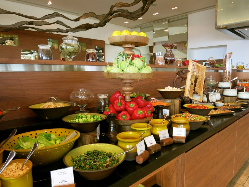 Fresh Salads for Breakfast at Beresheet Hotel