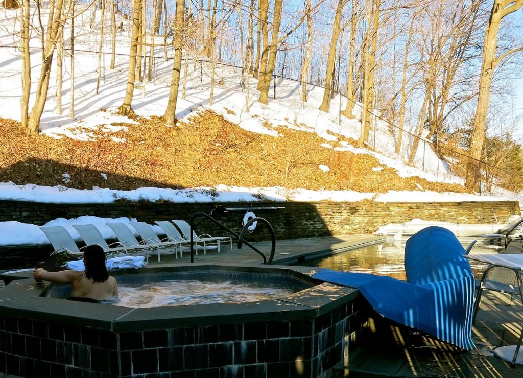 Hot Tub at Porches Inn