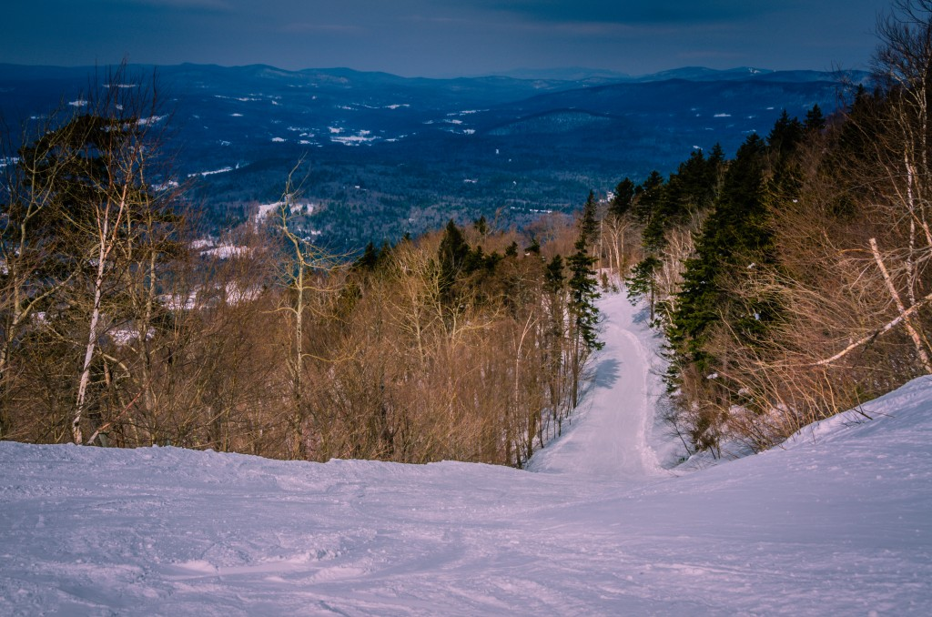 Mystery trail at Magic Mountain Ski Area in Southern Vermont.