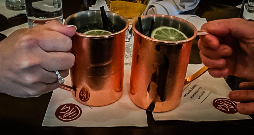 Moscow Mule cocktails - Circa at Foggy Bottom
