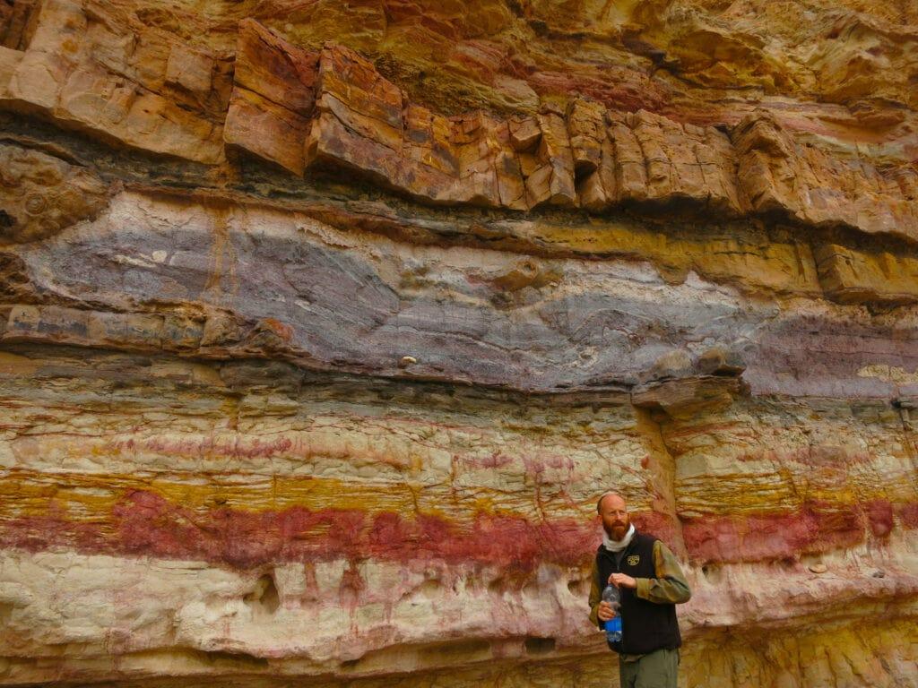 Stratified rock in Ramon Crater, Israel