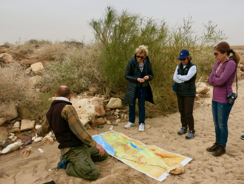Learning about Ramon Crater Tour Israel