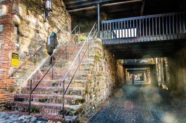 Historic River Street Steps - Savannah GA