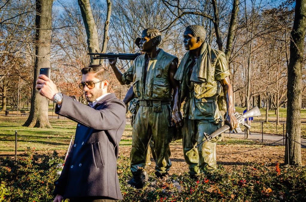 Three Soldiers Statue - Vietnam Veteran Memorial -