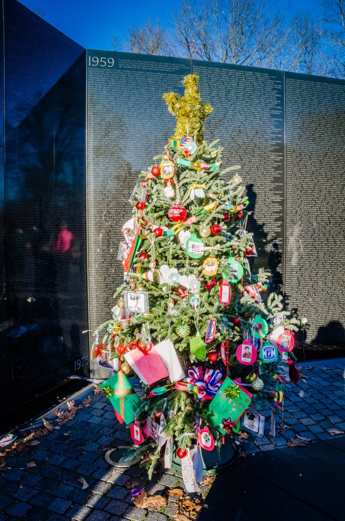 Vietnam Veterans Memorial - Christmas Tree