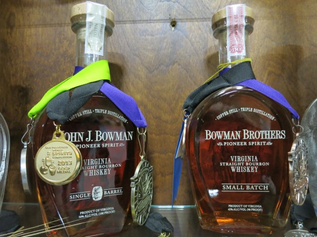 A. Smith Bowman Distillery Bourbon Medal Winners, Fredericksburg VA