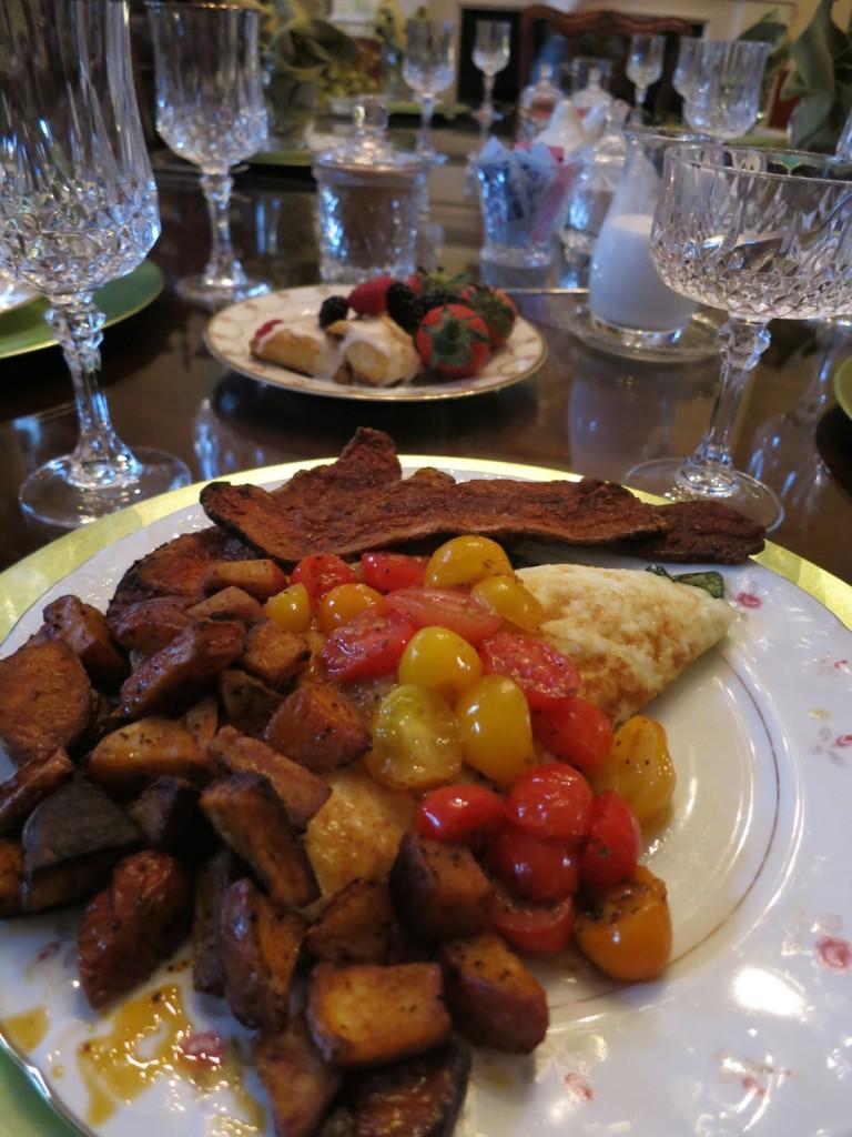 Breakfast at Richard Johnston Inn, Fredericksburg VA