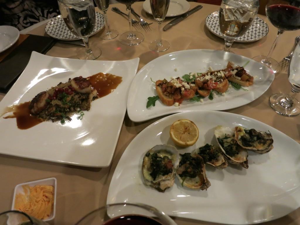 Appetizers at Carmello's Restaurant, Manassas VA