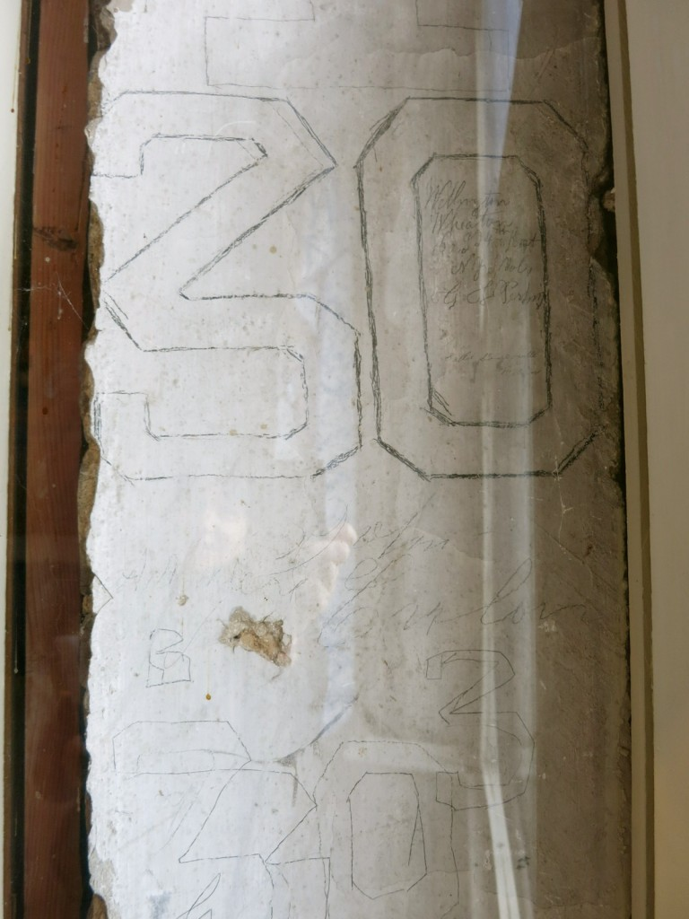 Civil War Graffiti on wall of Chatham Manor, Fredericksburg VA