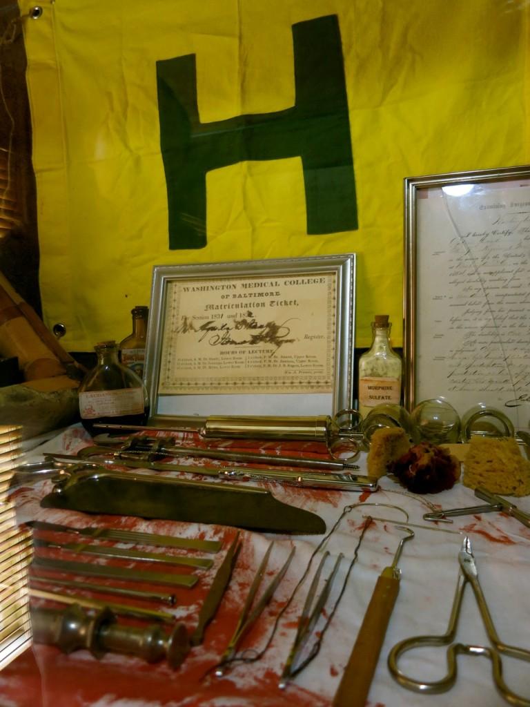 Civil War Medical implements, Weems Botts Museum, Dumfries VA