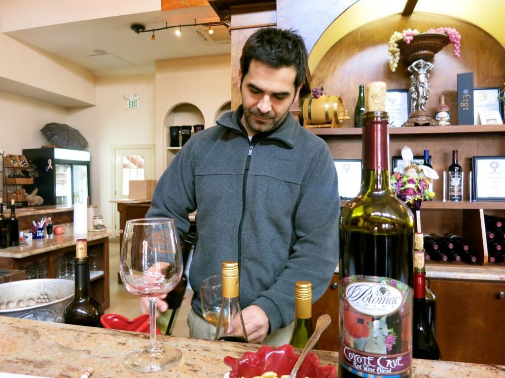 David Castano, Winemaker, Potomac Point Winery, Stafford VA