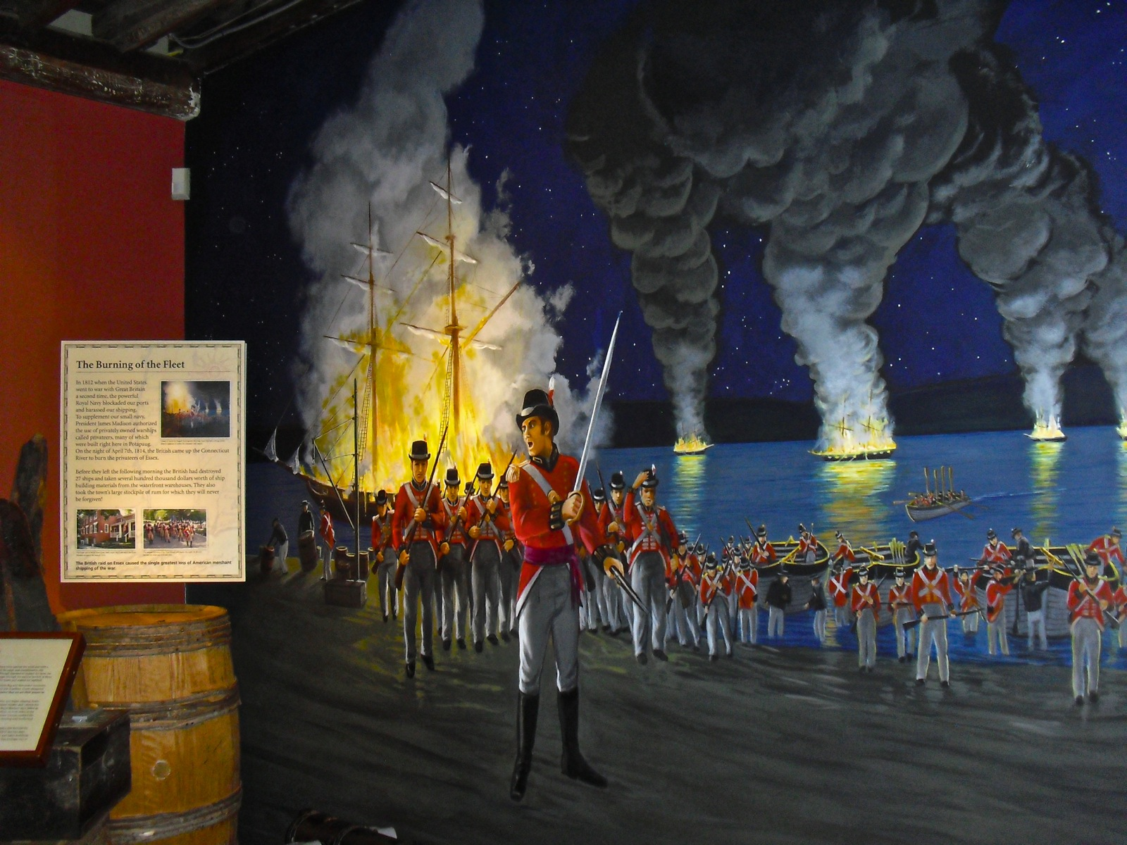 Essex Burning of the Fleet exhibit at Connecticut River Museum - Essex CT #CTVisit @GetawayMavens