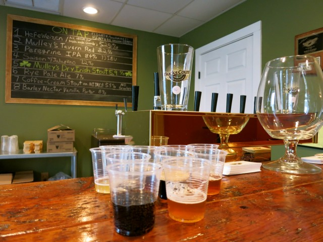 Flights of Beer at Bucks County Brewery