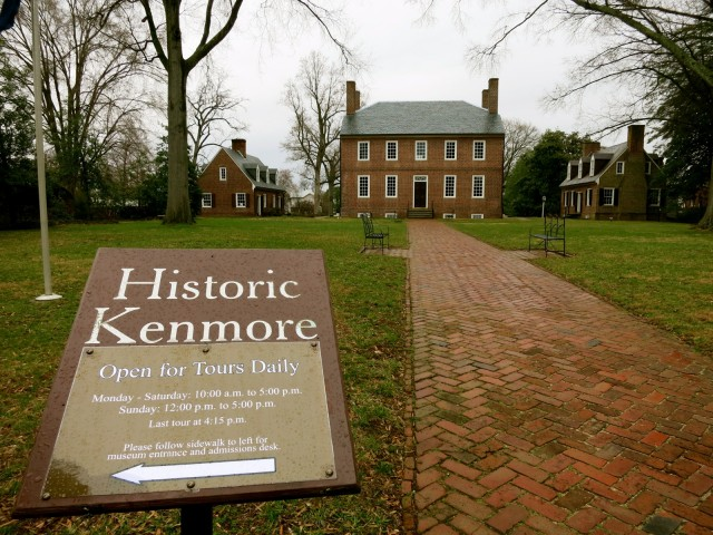 Historic Kenmore, Betty Washington's home, Fredericksburg VA