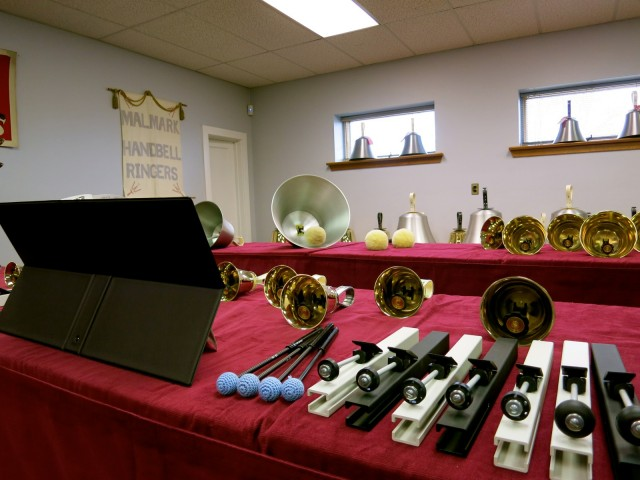 Handbells and ChoirChimes in Malmark Demo Room