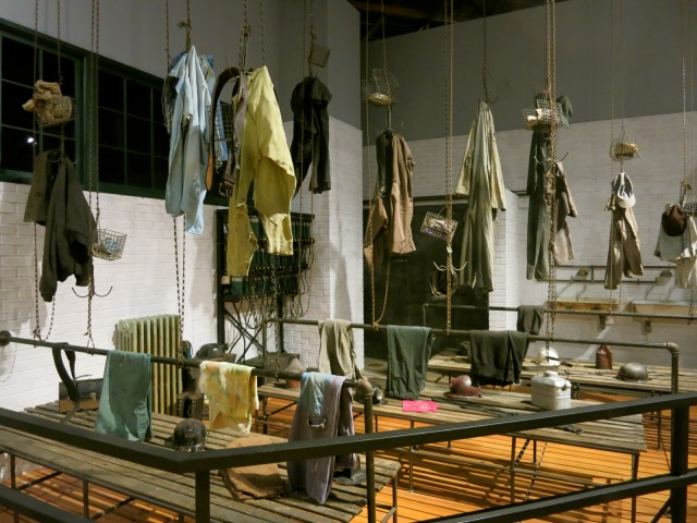 Miner's Changing room exhibit at Anthracite Heritage Museum, Scranton PA