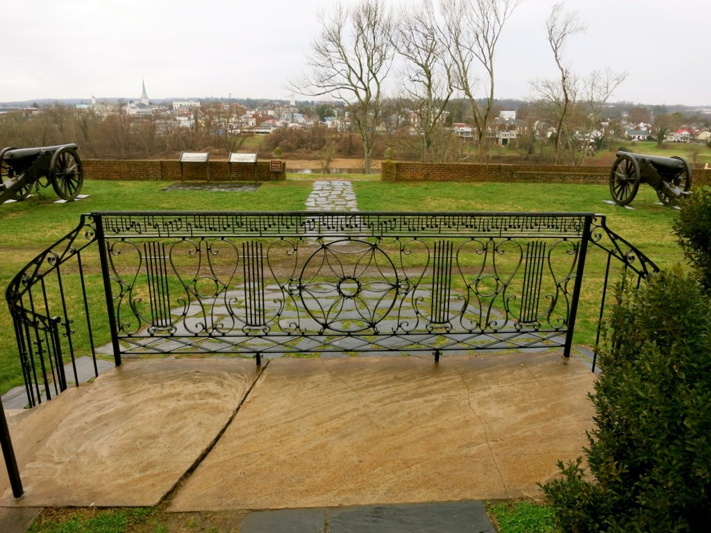 Musical Note Gate Spells Out Home Sweet Home at Chatham Manor, Fredericksburg VA