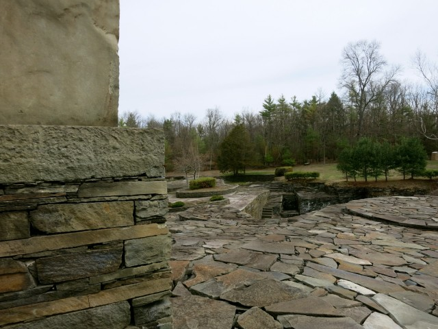 Opus 40 from back