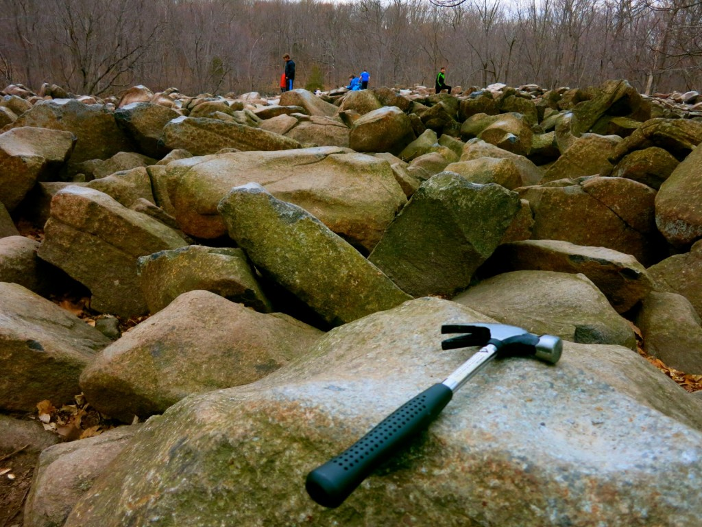 Bring a hammer to Ringing Rocks Park Upper Bucks County PA