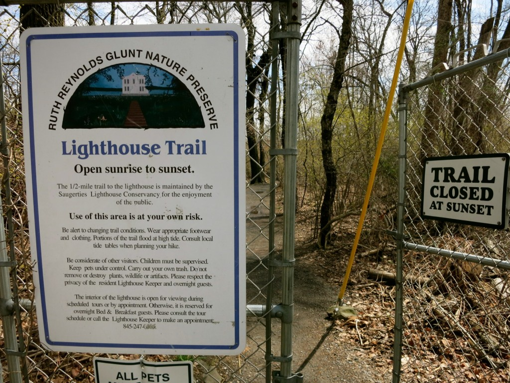 Saugerties Lighthouse Trail Sign